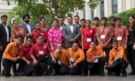 Staff photo at Lemon Tree Hotels, India