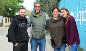Local organisers and volunteers from left to right: Oscar González, José Luís, Susana Camacho and María García .
