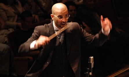 Issam Rafea, leader of the Syrian National Orchestra for Arabic Music.