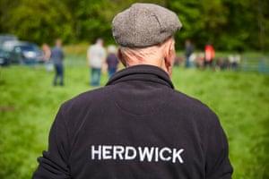 Herdwick shepherds exhibiting their best rams at the annual Keswick May Ram Fair