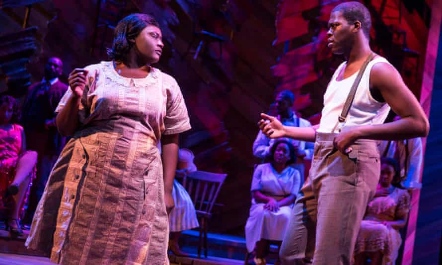 Danielle Brooks on stage in The Color Purple.