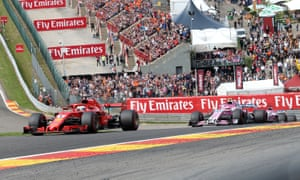 Sebastian Vettel (left) won the Belgian Grand Prix in Spa, to close the gap on Lewis Hamilton in the drivers' standings.
