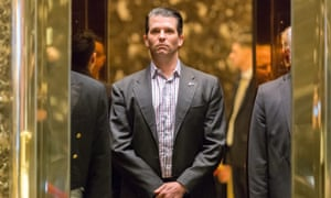 Donald Trump Jr arrives at Trump Tower in New York Wednesday.