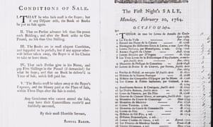 Samuel Baker's Conditions of Sale, 1764.