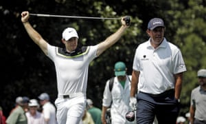Rory McIlroy takes stretch alongside Phil Mickelson walking the 9th