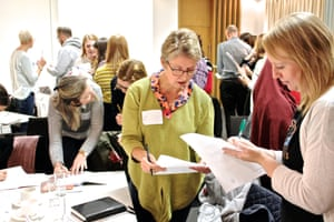 Delegates share good practice during a networking session at the Guardian Education Centre Reading for pleasure conference 9 November 2018