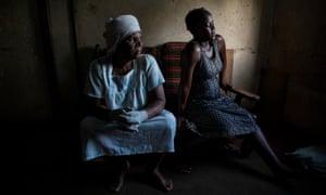 Esther Zinyoro, left, with would-be mother Winnet Nengomasha.