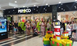 Queues outside the new Pep&Co store in Kettering.