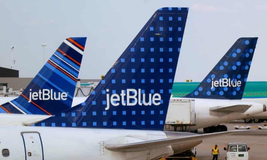 JetBlue aircraft at John F Kennedy International Airport