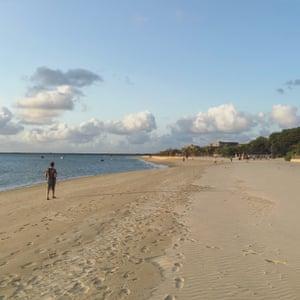 Manda Island beach