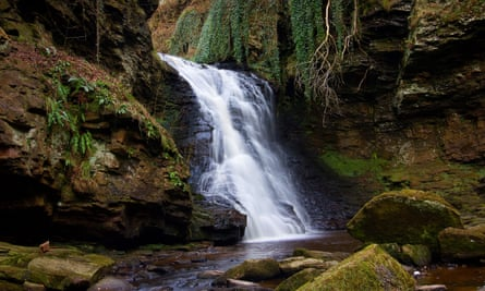 Hareshaw Linn waterfall, Bellingham.