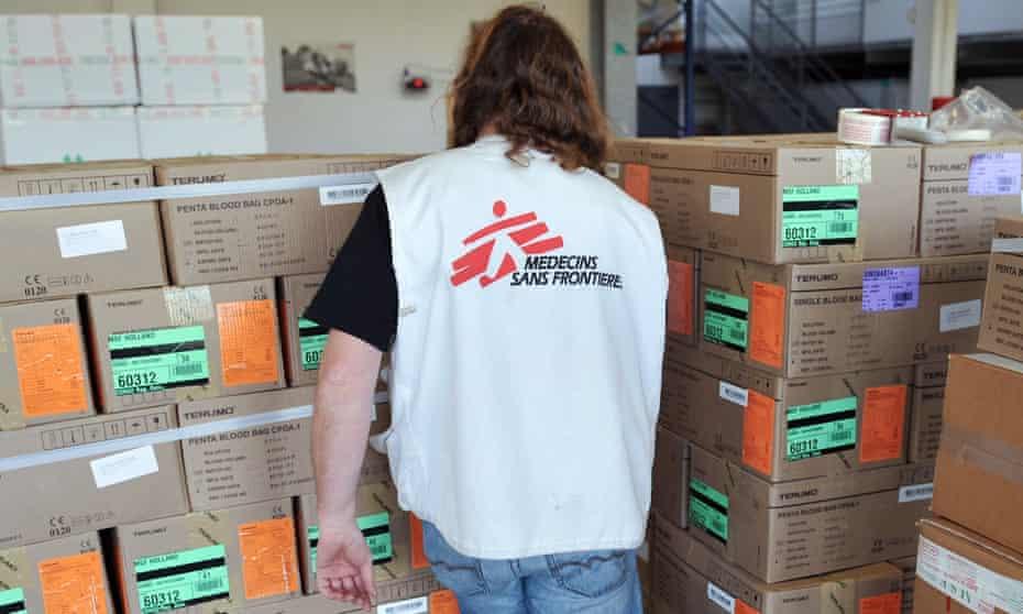 A Médecins Sans Frontières worker