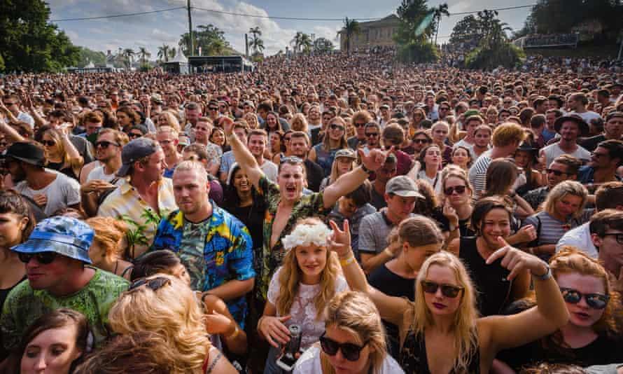 Laneway festival crowd