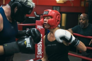 Carolyn DiCarlo sparring with Michael Burke
