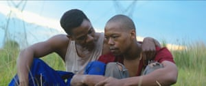 Bongile Mantsai and Nakhane Touré in The Wound.