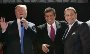 Donald Trump, Tevfik Arif and Felix Sater attend the Trump SoHo launch party on 19 September 2007 in New York.