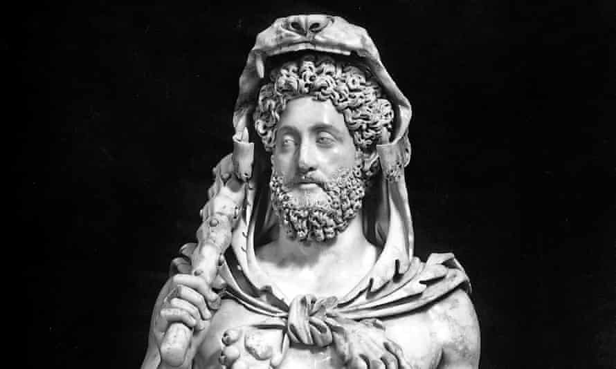 Bust of the emperor Commodus dressed as Hercules, in the Capitoline Museum, Rome.