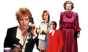 That was then (from left): Melanie Griffith in Working Girl; Calista Flockhart as Ally McBeal; journalist Tina Brown, 1993; Margaret Thatcher, 1984.