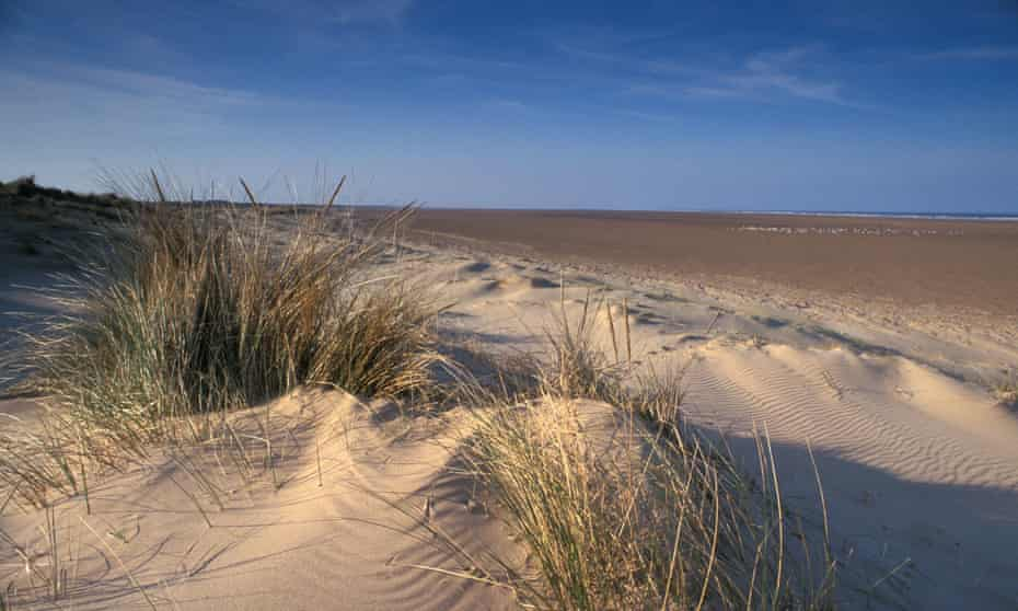 Sand Dunes and beach at Saltfleetby, Theddlethorpe National Nature Reserve