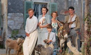 Cast of the ITV drama The Durrells with some animals