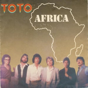 The sleeve of Africa by Toto.