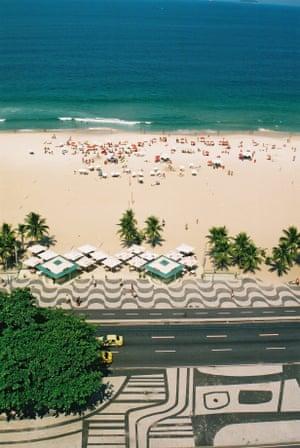 Martin Wagner: Copacabana beach. Copacabana beach, Rio de Janeiro, from a hotel rooftop.