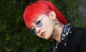 G-Dragon during Paris fashion week in 2017.