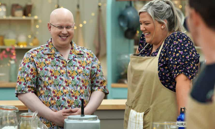 Matt and Laura Adlington on The Great British Bake Off.