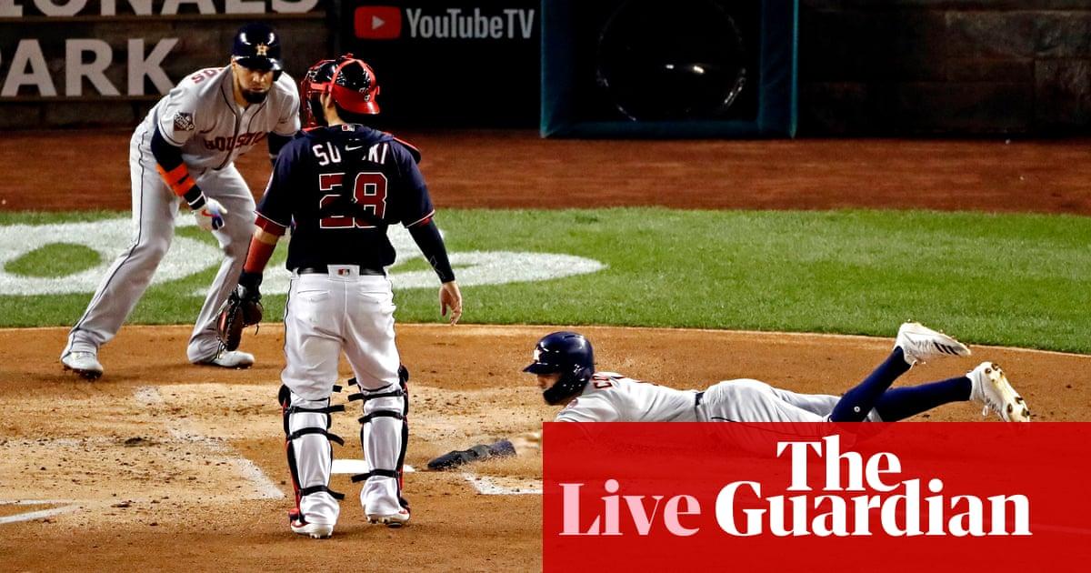 World Series Game 3: Houston Astros 4-1 Washington Nationals – as it happened