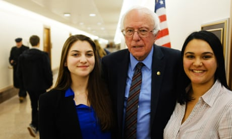 'You have the power to change America': Parkland students interview Bernie Sanders – video