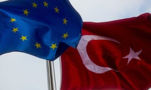 Turkey and the European Union  flags