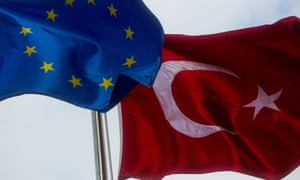 The EU suspended talks on Turkish membership in November 2016.