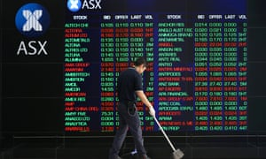 A board at the Australian Securities Exchange