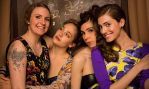 The cast of HBO's Girls, written by and starring Lena Dunham
