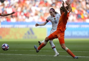 Rose Lavelle of the USA scores her team's second goal.
