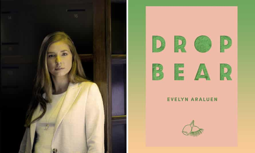 Author Evelyn Araluen and her book Dropbear