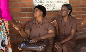 Grannies in Harare, waiting for visitors to their friendship bench.