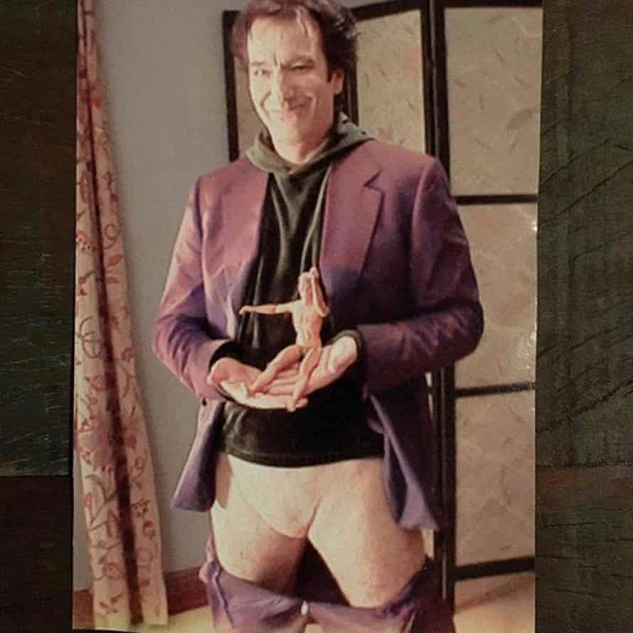 Alan Rickman on the set of Dogma