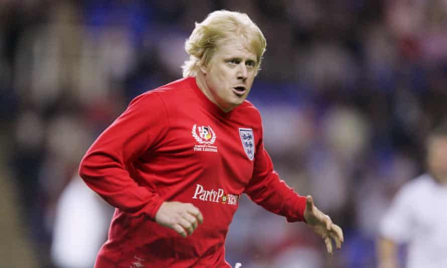 Boris Johnson playing for England v Germany in a 'legends' charity match in Reading in 2006