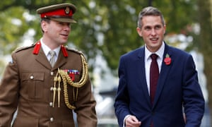 Gavin Williamson, right, arriving at the Ministry of Defence today after being appointed defence secretary.