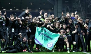 Chelsea file photo<br>File photo dated 12-05-2017 of Chelsea players and manager Antonio Conte celebrate becoming Premier League Champions. PRESS ASSOCIATION Photo. Issue date: Monday May 15, 2017. Premier League champions Chelsea will bid for a record-breaking end to the season, beginning against Watford on Monday night. See PA story SOCCER Chelsea. Photo credit should read Nick Potts/PA Wire.