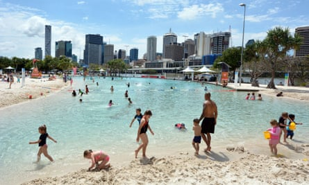 Streets beach in Brisbane, Queensland.