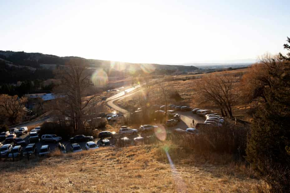 """In Bozeman, parking can be hard to come by at trail heads even during the """"shoulder"""" seasons. An influx of newcomers has created more traffic than usual."""