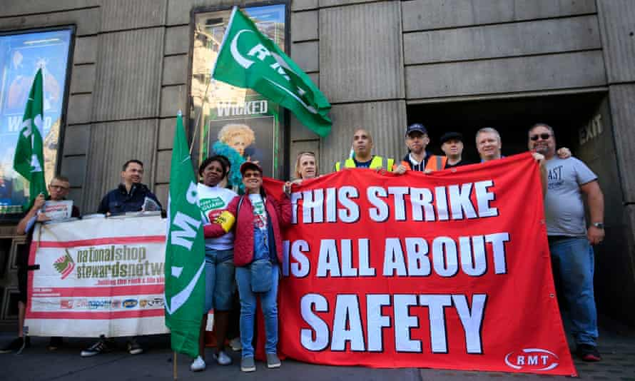 The RMT is set to stage strikes on four rail franchises next month.