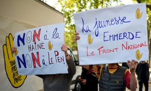 Anti Front National protesters