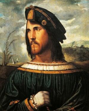 Machiavelli's inspiration … Portrait of Cesare Borgia by Altobello Melone (c1513).