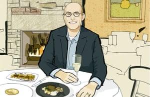 Michael Pollen at Harvest restaurant in Cambridge, MA.
