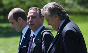 Reince Priebus on the south lawn of the White House on 18 April 2017 in Washington DC.