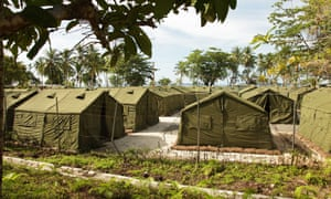 A photo provided by the Australian Department of Immigration and Citizenship of facilities at the Manus Island offshore detention centre in 2012.