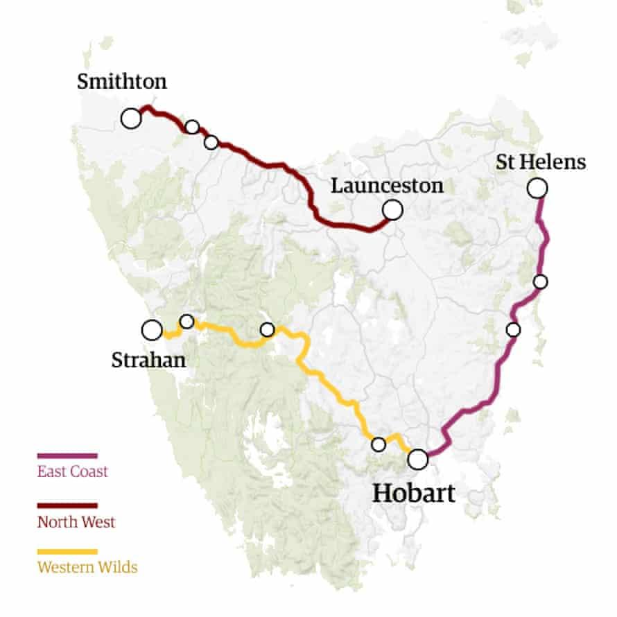 Three short road trips around Tasmania
